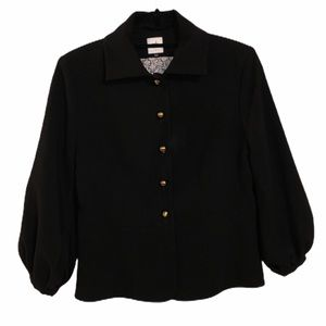 CABI women's black button down fancy blazer jacket